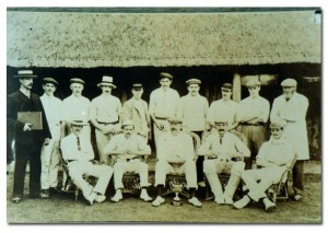 mens cricket team at Longwood